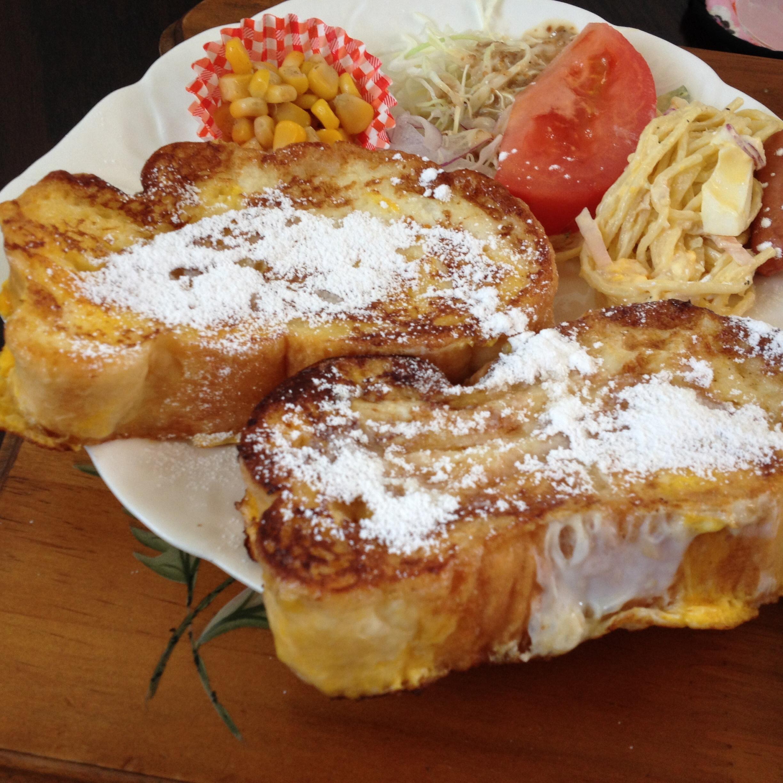 垂井町モーニングの人気店「ポピー」のフレンチトーストはでっかくて美味しい!