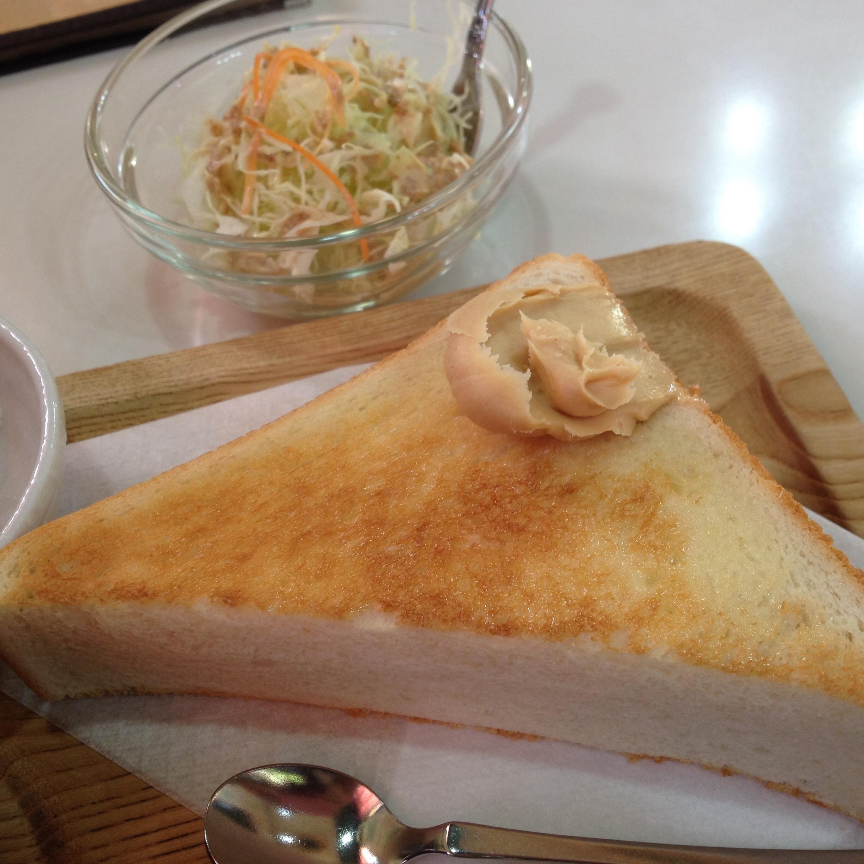 米原市の喫茶店「樹里」のモーニングはおすすめ!分厚いトーストにピーナッツバターが美味しい