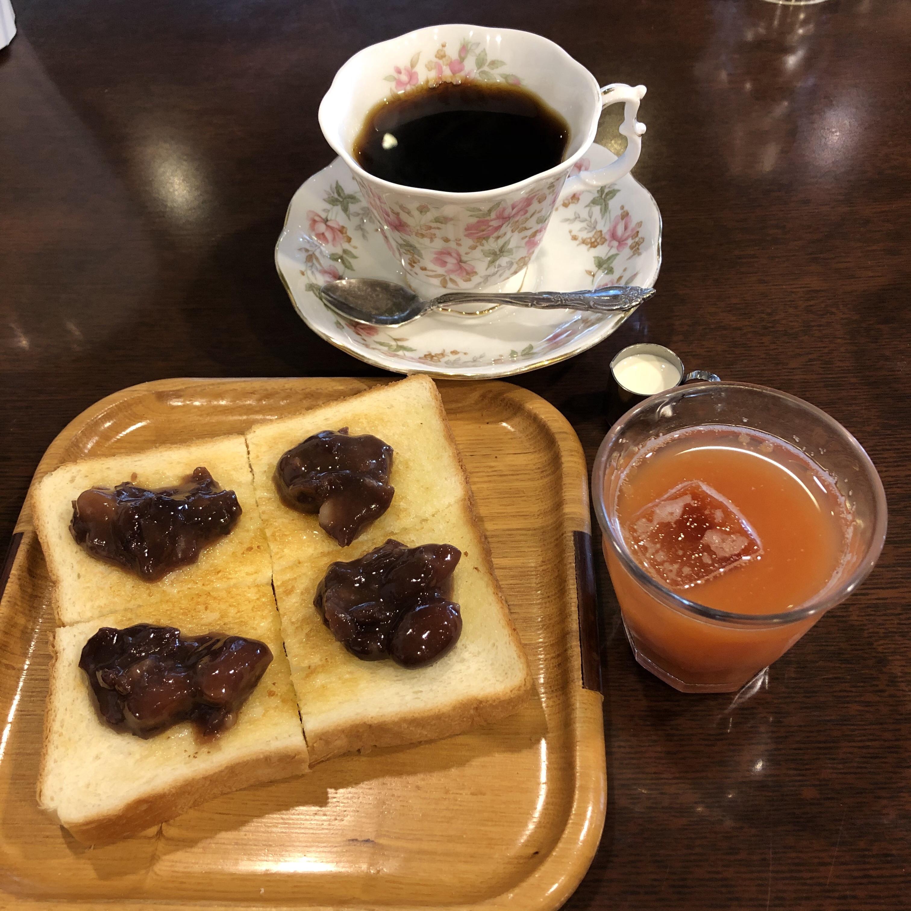 愛知県名古屋市のおすすめモーニング あんトーストおいしいコーヒーはかこ柳橋店